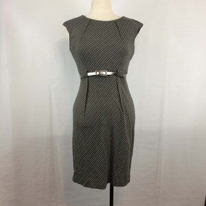 Connected Apparel black geometric pattern dress 6